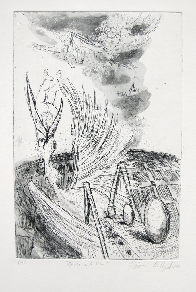 """""""Apollo und Sohn"""" 30x20cm Radierung 1/15  2013"""
