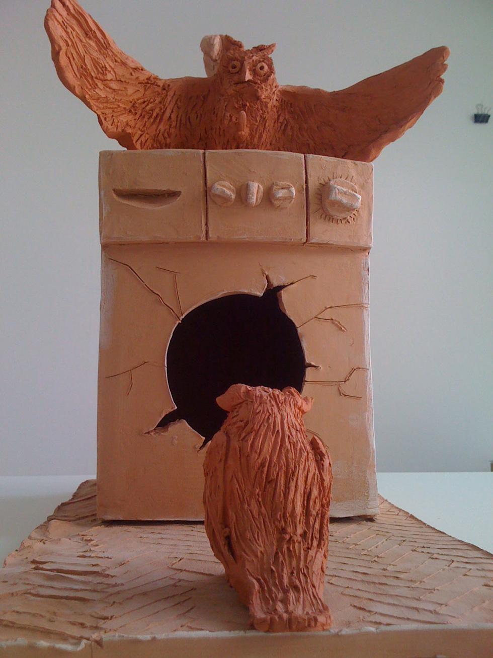 """Stumme Voegel"" 40x25x40cm Keramik 2012"