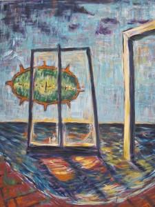 """""""Ebbe & Flut""""  100x80 cm Eitempera auf Leinwand 2014"""