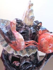 """Heißhunger"" 95x45x45cm Keramik Glasiert 2014"