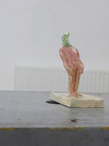"""Bewegt"" 10x5x5 cm Keramik glasiert 2015"