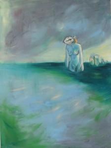 """""""Land in SIcht"""" 150x100 cm Öl auf Leinwand 2015"""