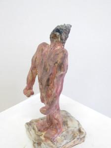 """Brüllen"" 15.4.4 cm Keramik glasiert 2016"