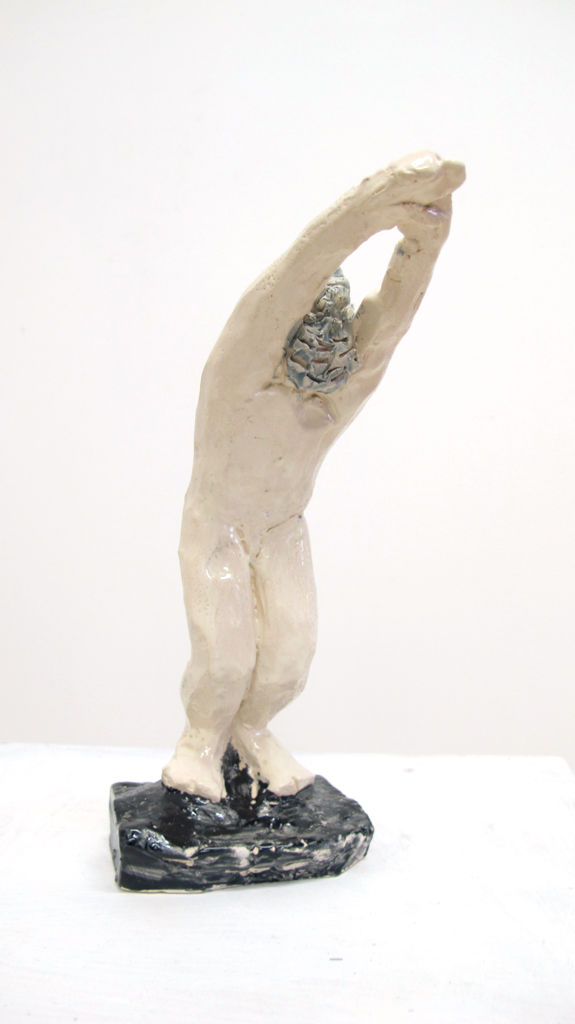 """Jump"" 15.4.4 cm Keramik glasiert 2016"