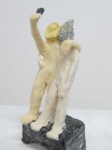 """""""Selfi I"""" 15.10.5 cm Keramik glasiert 2016"""
