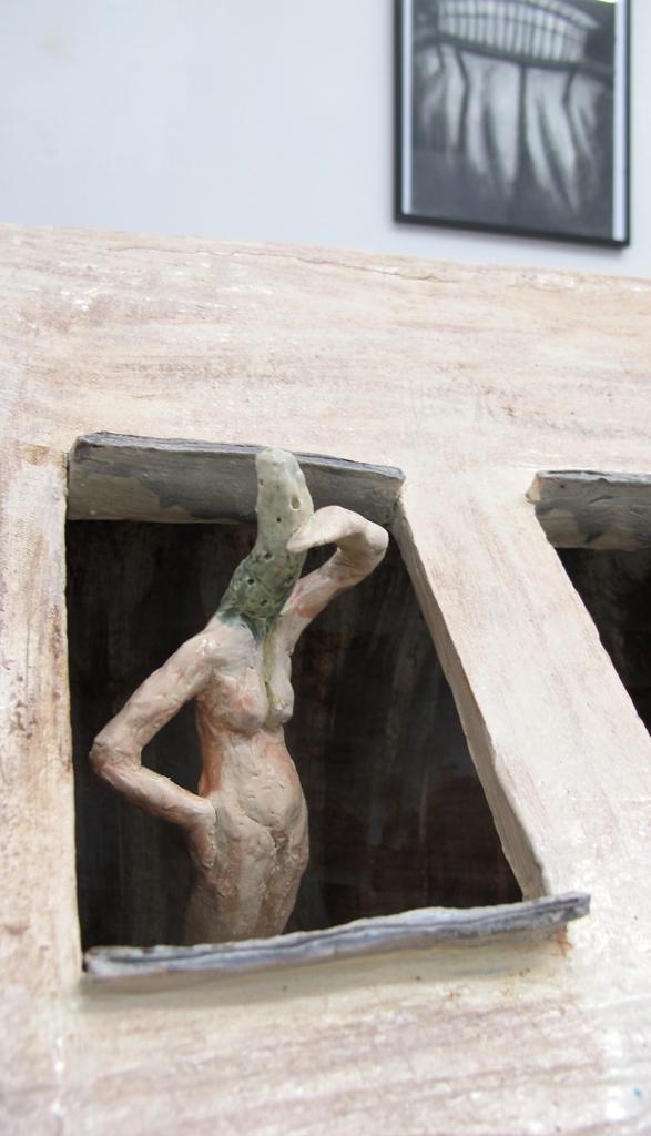 """""""Einbruch""""  Keramik glasiert 2016"""