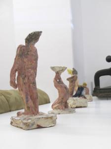 """Figurenserie_1""  Keramik glasiert 2016"