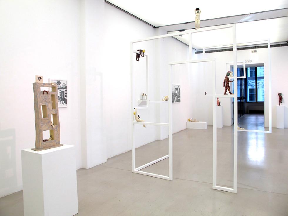 """Installation """"Smart house"""" Holz und Keramik 2018"""
