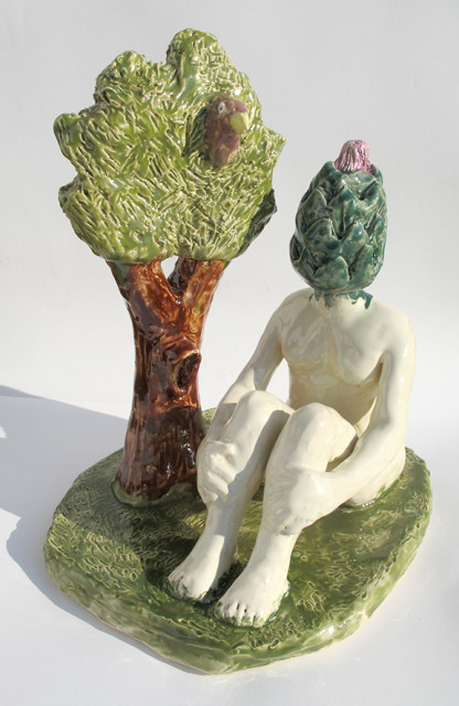 Artischoke unter dem Baum_32x26x29cm_Keramik glasiert_2019_web
